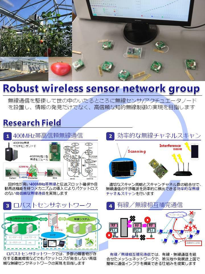 ロバスト無線センサネットワークグループ